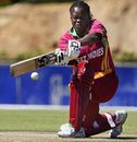 Cordel Jack plays the sweep, South Africa v West Indies, 3rd women's ODI, Paarl, October 21, 2009