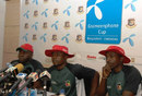 Zimbabwe team manager Walton Kafesu, captain Prosper Utseya and coach Walter Chawaguta at a media briefing, Mirpur, October  22, 2009