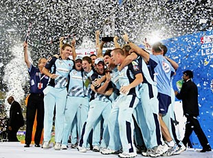 New South Wales celebrate their Champions League victory