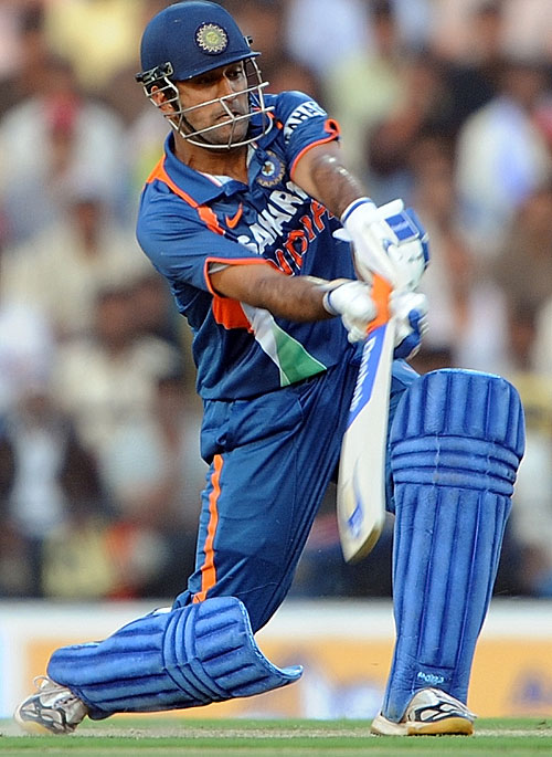 MS Dhoni goes over the top