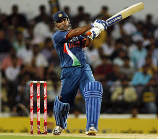 MS Dhoni scored the first century at the new VCA Stadium