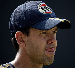 Ricky Ponting looks on during a training session, New Delhi, October 30, 2009