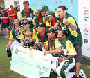 South Africa celebrate their Hong Kong Sixes title, Hong Kong v South Africa, Hong Kong Cricket Sixes final, Hong Kong, November 1, 2009