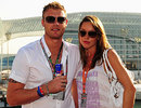 Andrew Flintoff with wife Rachel at the Abu Dhabi Grand Prix