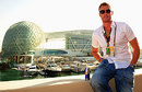 Andrew Flintoff relaxes at the Abu Dhabi Grand Prix