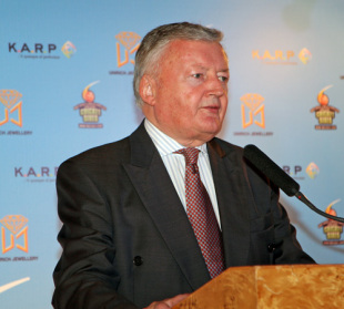 ICC President David Morgan speaks at the Welcome Reception for the 2009 Hong Kong Cricket Sixes