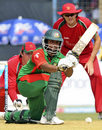 Tamim Iqbal shapes to play a stroke