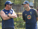 David Boon and Ricky Ponting deep in discussion