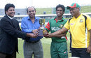 Mahmudul Hasan gets his hands on the series trophy, Bangladesh Under-19 v England Under-19, 7th Youth ODI, Dhaka, November 4, 2009