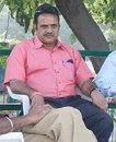 Yashpal Sharma watches proceedings, Punjab v Mumbai, 2nd day, Ranji Trophy Super League, Group A, Chandigarh, November 4, 2009