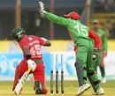 Quick glovework from Mushfiqur Rahim has Stuart Matsikenyeri stumped