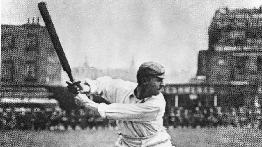 Victor Trumper bats at The Oval