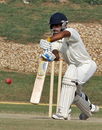 Gaurav Gambhir pushes to the off, Punjab v Mumbai, Ranji Trophy Super League, Group A, Chandigarh, November 6, 2009