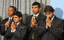 Sri Lankan players observe Buddhist prayers before departing for India