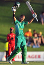 JP Duminy celebrates his maiden ODI century