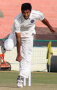 MP Arjun bends his back, Punjab v Hyderabad, Ranji Trophy Super League, 2nd round, Mohali, 3rd day, November 12, 2009