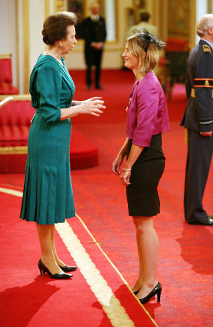 Charlotte Edwards, the England women's team captain, is made an MBE by the Princess Royal for services to sport, London, November 24, 2009