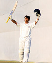 Taruwar Kohli celebrates his maiden first-class century, Punjab v Gujarat, Ranji Trophy Super League, Mohali, 2nd day, November 25, 2009