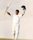 Taruwar Kohli celebrates his maiden first-class century, Punjab v Gujarat, Ranji Trophy Super League, Mohali, 2nd day, November 25, 2009