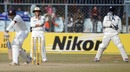 Mahela Jayawardene edged the ball between MS Dhoni and Sachin Tendulkar