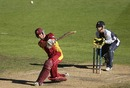 Chris Simpson goes over the top during his 61, Victoria v Queensland, Ford Ranger Cup, Melbourne, December 2, 2009