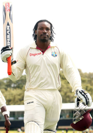 Chris Gayle walks off with 165 not out, Australia v West Indies, 2nd Test, Adelaide