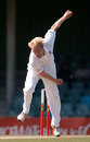 Mark Davies bowls during his first outing for England, South African Invitational XI v England XI at East London, December 10, 2009