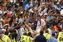Steve Waugh is carried through the crowd, Australia v India, 4th Test, Sydney, 5th day, January 6, 2004