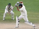 Tim McIntosh drives off the front foot, New Zealand v Pakistan, 3rd Test, Napier, 5th day, December 15, 2009