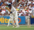 Manoj Prabhakar is bowled by Bruce Reid (not in picture), Australia v India, second Test, 26 December 1991
