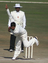 Ashok Thakur sends down a delivery, Himachal Pradesh v Orissa, Ranji Trophy Super League, Group A, Dharamsala, 4th day, December 18, 2009