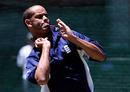 Dean Headley bowls in the nets, Bloemfontein, November 10, 1999