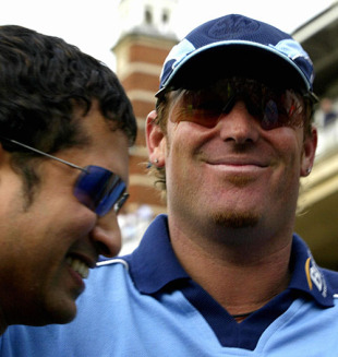Shane Warne and Sachin Tendulkar chat, Lord's, June 20, 2005