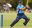 Auckland's Andrew de Boorder cuts during his 57