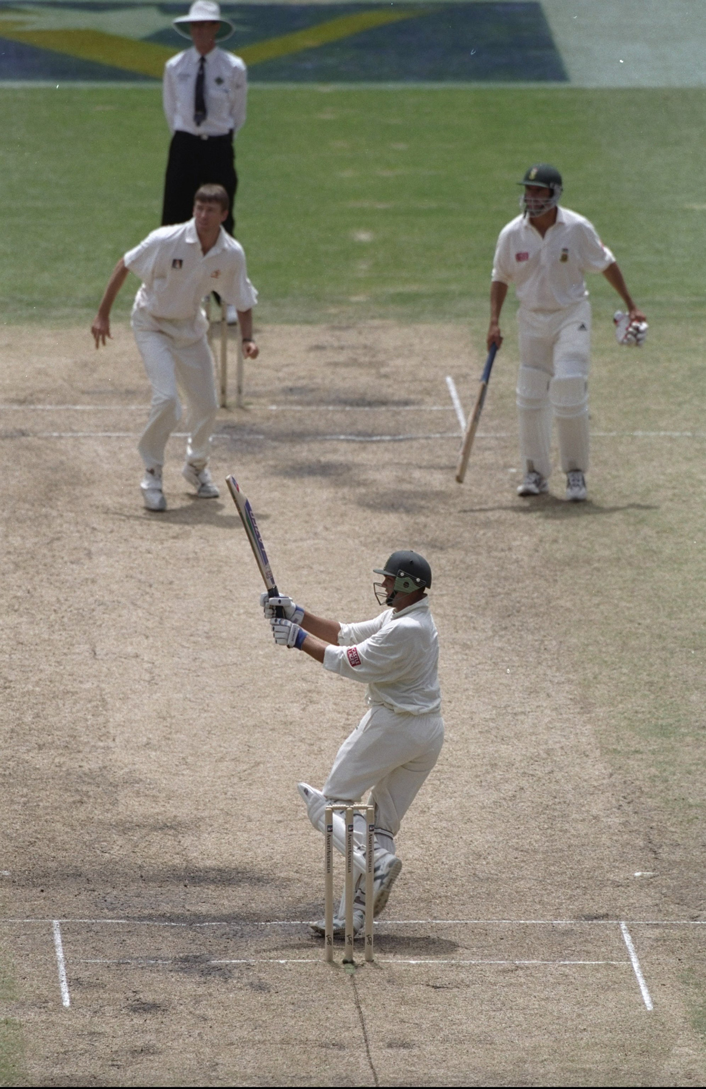 The battler: Kallis batted nearly six hours, making 101 and adding 123 with Hansie Cronje, to draw the Melbourne Test in 1997-98