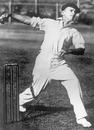 Clarrie Grimmett bowls, February 5, 1937