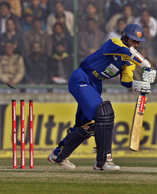 Upul Tharanga was cleaned up first ball
