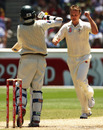 Doug Bollinger celebrates the wicket of Mohammad Aamer