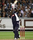 Dwayne Bravo hits a six, Victoria v New South Wales, Twenty20 Big Bash, Melbourne, January 2, 2010