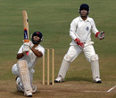 Abhishek Nayar connects for maximum, Mumbai v Delhi, Ranji Trophy Super League 2009-10, 1st semi-final, Mumbai, 1st day, January 3, 2010