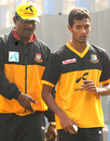 Shafiul Islam gets tips from bowling coach Champaka Ramanayake, Mirpur, January 3, 2010