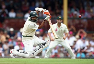 Mohammad Yousuf drives through the off side, Australia v Pakistan, 2nd Test, Sydney, 2nd day, January 4, 2010