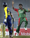 Rubel Hossain exults after dismissing Upul Tharanga