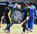 Udeshika Prabodhani and Sandamali Dolawatta during their unbeaten 100-run stand.