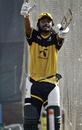 Shahriar Nafees looks animated during batting practice