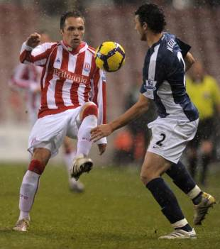 A Stoke City v Fulham football match, January 5, 2010