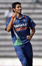 Sudeep Tyagi celebrates the dismissal of Imrul Kayes, Bangladesh v India, Tri-series, 6th ODI, Mirpur, January 11, 2010