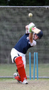 Max Tucker batting in the nets at St Andrew's College, Christchurch
