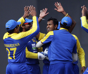 Nuwan Kulasekara accounted for three of India's top-order batsmen to give Sri Lanka the early advantage in Mirpur