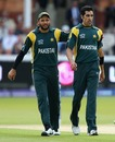 Shahid Afridi pats Umar Gul on the back, Pakistan v Sri Lanka, World Twenty20 final, Lord's, June 21, 2009